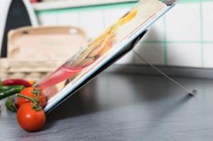 Buchständer, Küche, Edelstahl, Kochbücher, Hefte, Ipad, Kochhilfe