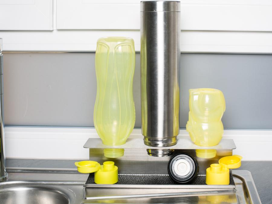 Flaschen abtropfer,Spritzschutz ,Edelstahl,Küche Organizer